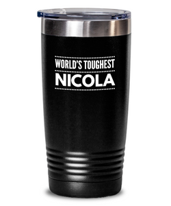#GB Tumbler White NAME 3714 World's Toughest NICOLA