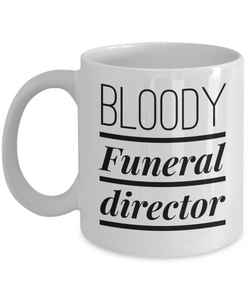 Bloody Funeral Director Gag Gift for Coworker Boss Retirement or Birthday - Ribbon Canyon