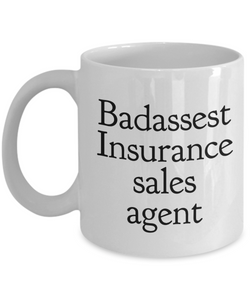 Badassest Insurance Sales Agent Gag Gift for Coworker Boss Retirement or Birthday - Ribbon Canyon