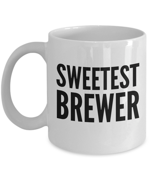 Sweetest Brewer - Birthday Retirement or Thank you Gift Idea -   11oz Coffee Mug - Ribbon Canyon