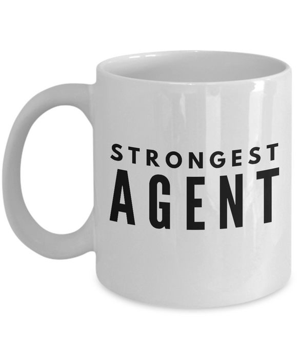 Strongest Agent - Birthday Retirement or Thank you Gift Idea -   11oz Coffee Mug - Ribbon Canyon