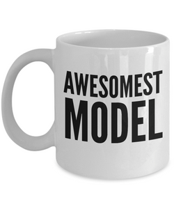 Awesomest Model - Birthday Retirement or Thank you Gift Idea -   11oz Coffee Mug - Ribbon Canyon