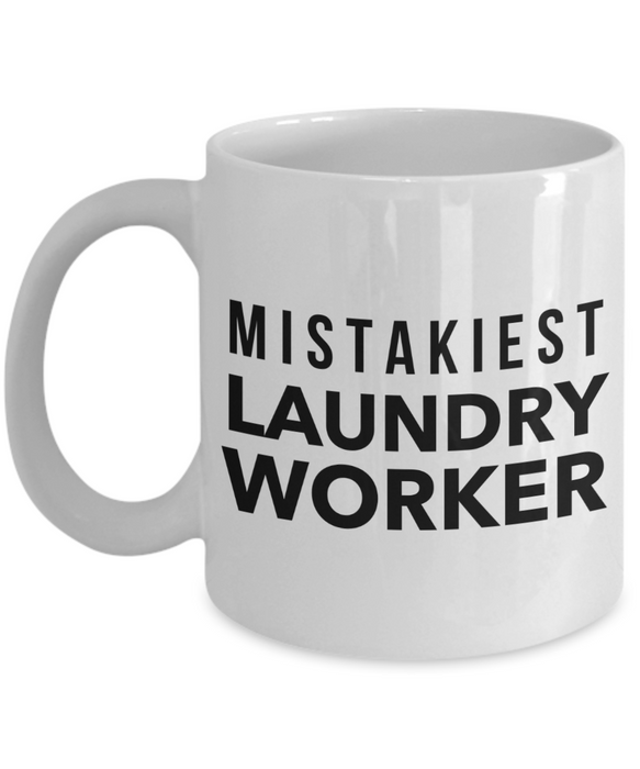 Mistakiest Laundry Worker Gag Gift for Coworker Boss Retirement or Birthday - Ribbon Canyon