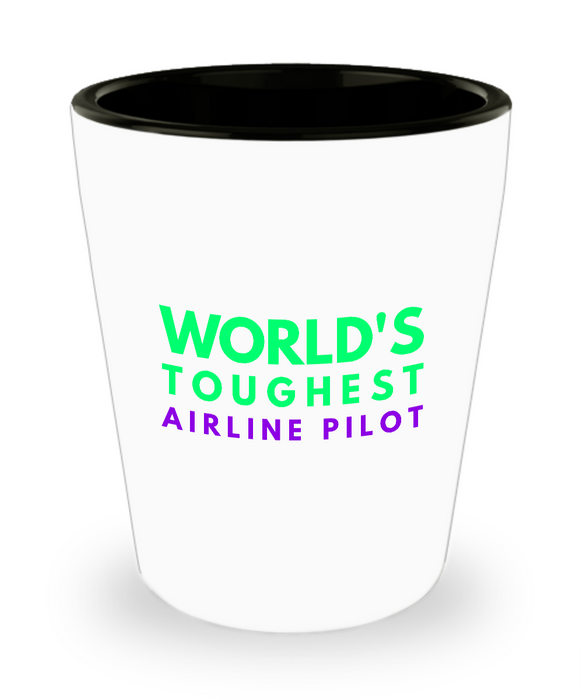 Creative Airline Pilot Short Glass - Ribbon Canyon
