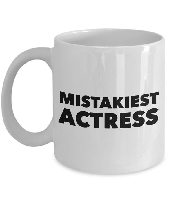 Mistakiest Actress Gag Gift for Coworker Boss Retirement or Birthday - Ribbon Canyon