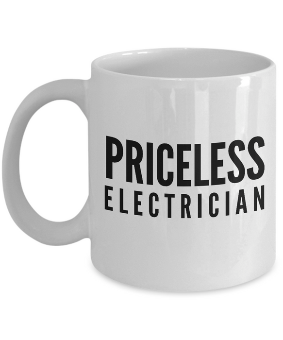 Priceless Electrician - Birthday Retirement or Thank you Gift Idea -   11oz Coffee Mug - Ribbon Canyon