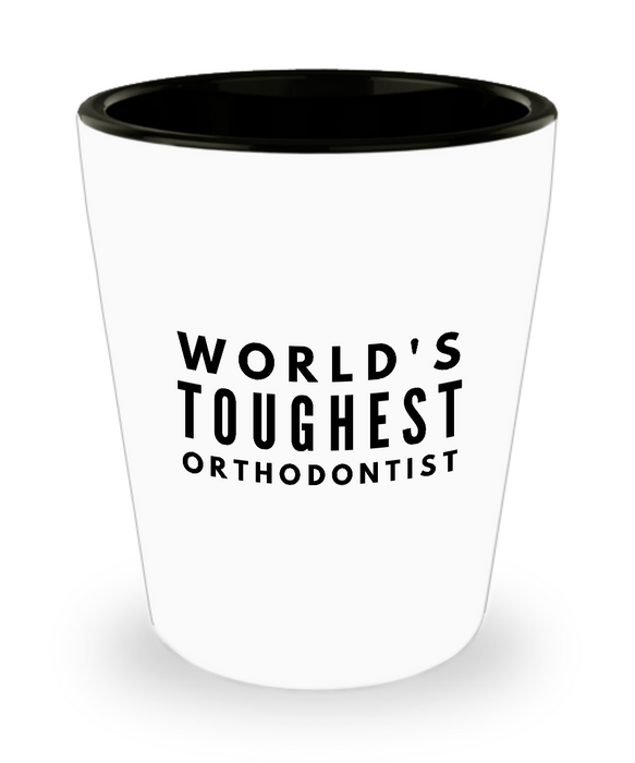 Friend Leaving Novelty Short Glass for Orthodontist