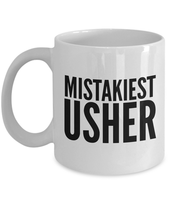 Mistakiest Usher Gag Gift for Coworker Boss Retirement or Birthday - Ribbon Canyon