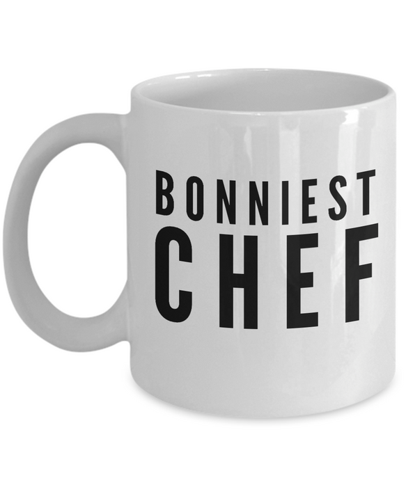 Bonniest Chef - Birthday Retirement or Thank you Gift Idea -   11oz Coffee Mug - Ribbon Canyon