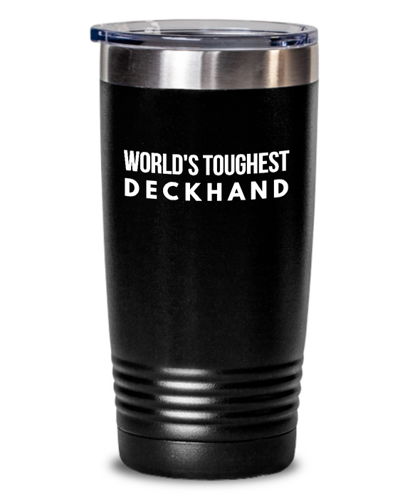 Deckhand - Novelty Gift White Print 20oz. Stainless Tumblers - Ribbon Canyon