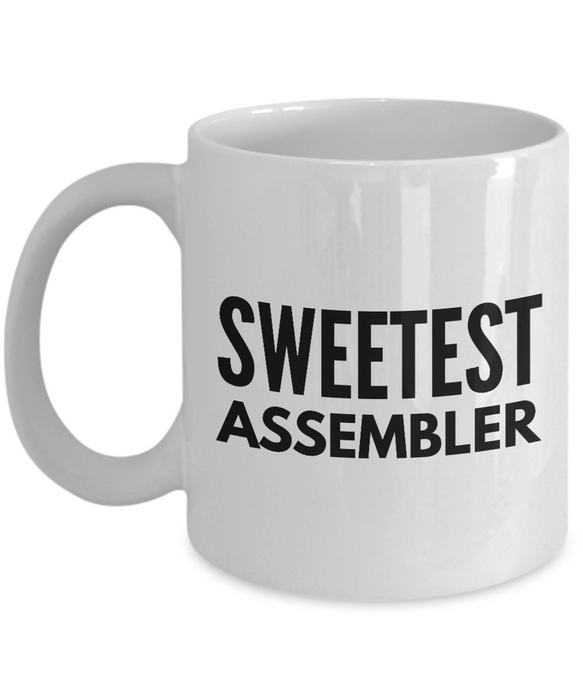 Sweetest Assembler - Birthday Retirement or Thank you Gift Idea -   11oz Coffee Mug - Ribbon Canyon