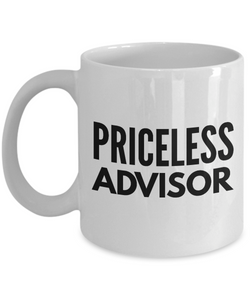 Priceless Advisor - Birthday Retirement or Thank you Gift Idea -   11oz Coffee Mug - Ribbon Canyon