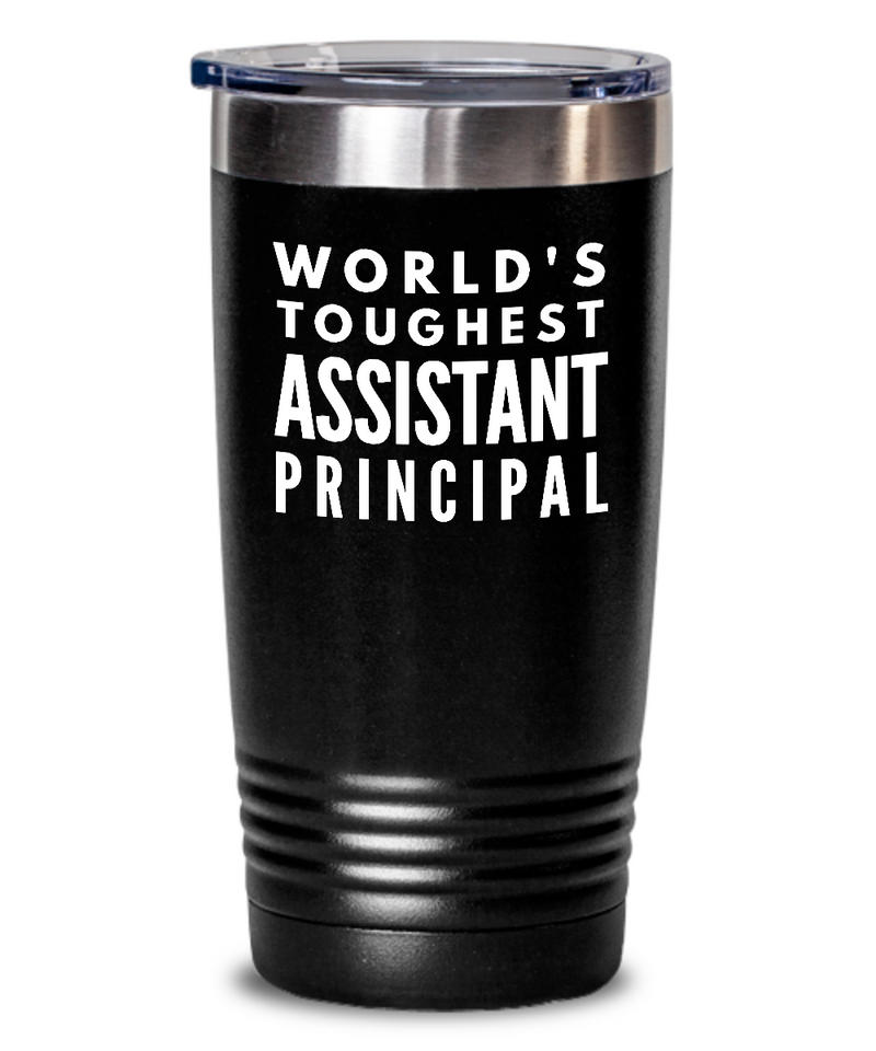Assistant Principal - Novelty Gift White Print 20oz. Stainless Tumblers - Ribbon Canyon