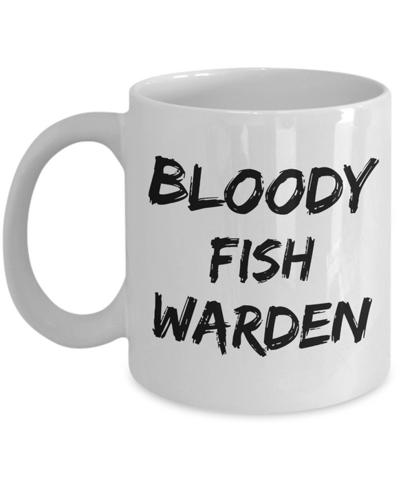 Bloody Fish Warden Gag Gift for Coworker Boss Retirement or Birthday - Ribbon Canyon