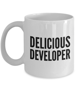 Delicious Developer - Birthday Retirement or Thank you Gift Idea -   11oz Coffee Mug - Ribbon Canyon