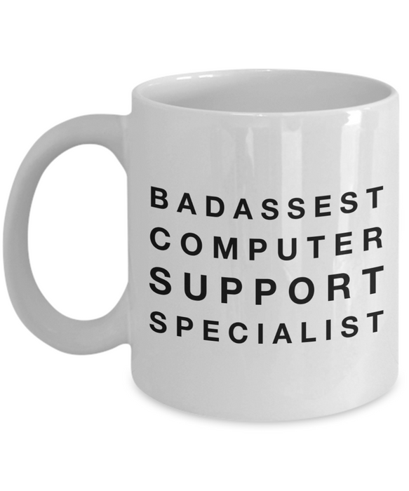 Badassest Computer Support Specialist Gag Gift for Coworker Boss Retirement or Birthday - Ribbon Canyon