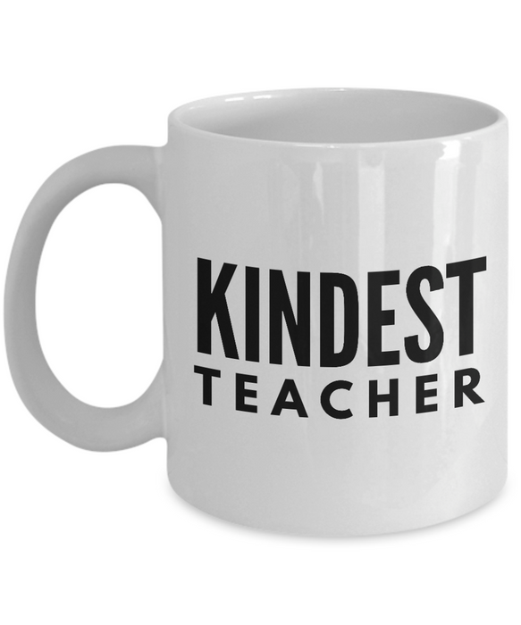 Kindest Teacher - Birthday Retirement or Thank you Gift Idea -   11oz Coffee Mug - Ribbon Canyon