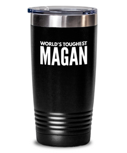 #GB Tumbler White NAME 3169 World's Toughest MAGAN