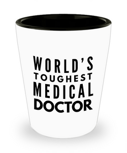 Friend Leaving Novelty Short Glass for Medical Doctor