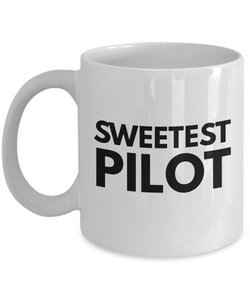 Sweetest Pilot - Birthday Retirement or Thank you Gift Idea -   11oz Coffee Mug - Ribbon Canyon