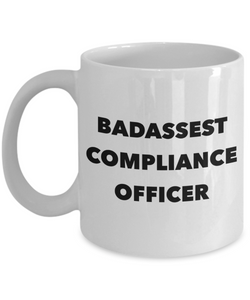 Badassest Compliance Officer Gag Gift for Coworker Boss Retirement or Birthday - Ribbon Canyon