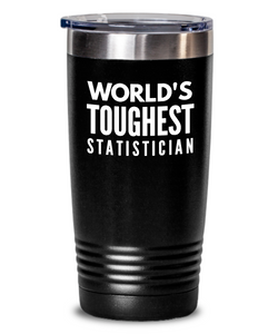 Statistician - Novelty Gift White Print 20oz. Stainless Tumblers - Ribbon Canyon