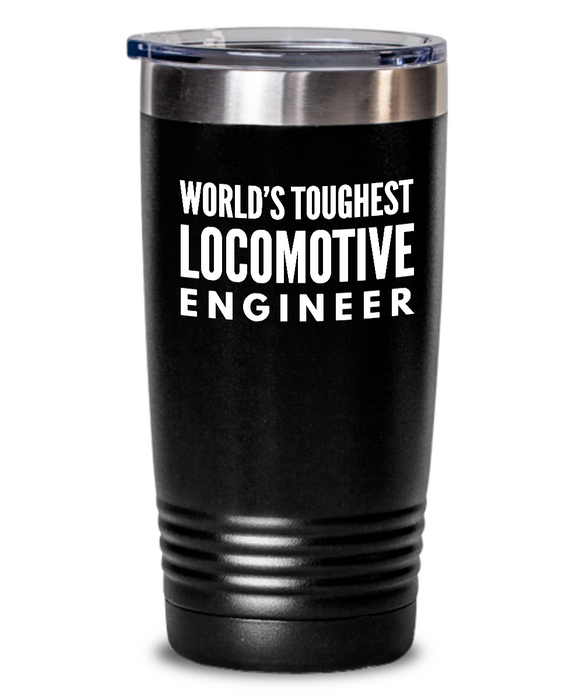 Locomotive Engineer - Novelty Gift White Print 20oz. Stainless Tumblers - Ribbon Canyon