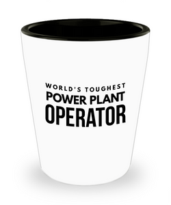 Friend Leaving Novelty Short Glass for Power Plant Operator