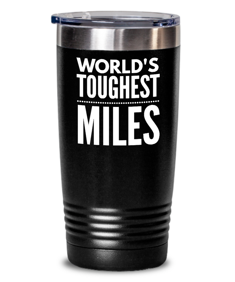 #GB Tumbler White NAME 3529 World's Toughest MILES