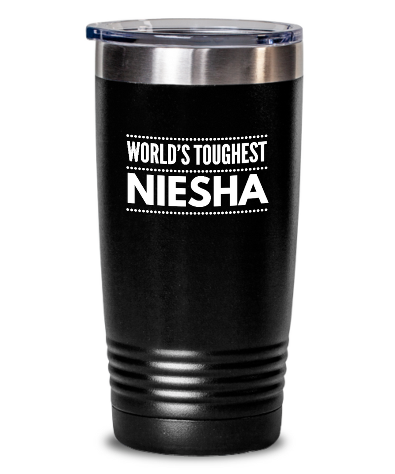 #GB Tumbler White NAME 3722 World's Toughest NIESHA
