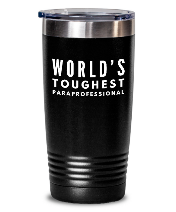 Paraprofessional - Novelty Gift White Print 20oz. Stainless Tumblers - Ribbon Canyon