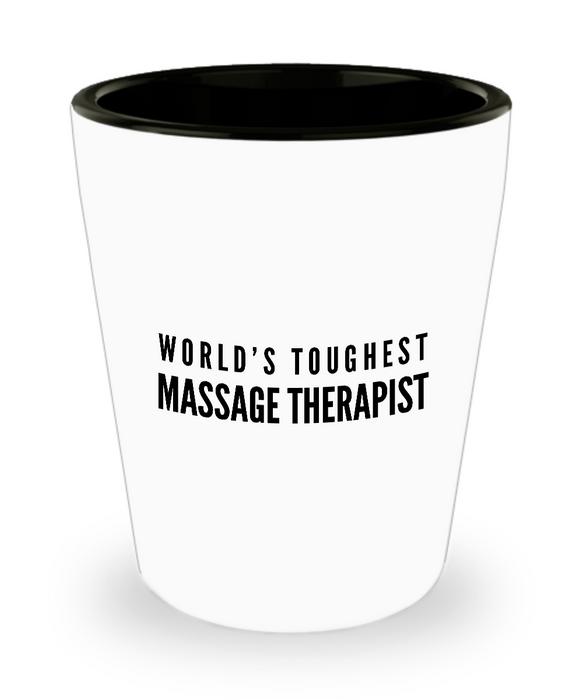 Friend Leaving Novelty Short Glass for Massage Therapist