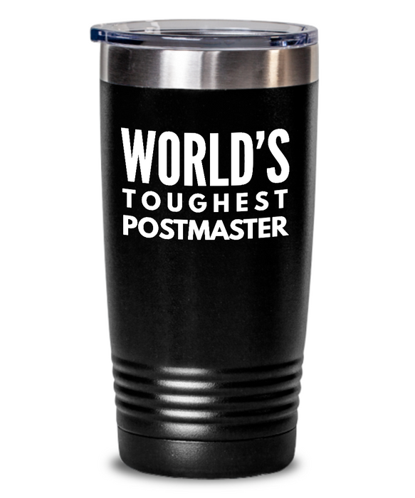 Postmaster - Novelty Gift White Print 20oz. Stainless Tumblers - Ribbon Canyon
