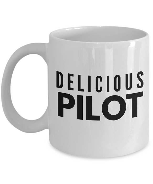 Delicious Pilot - Birthday Retirement or Thank you Gift Idea -   11oz Coffee Mug - Ribbon Canyon