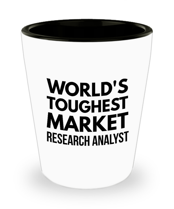 Friend Leaving Novelty Short Glass for Market Research Analyst