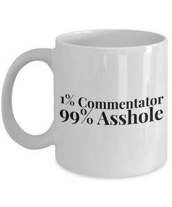 1% Commentator 99% Asshole Gag Gift for Coworker Boss Retirement or Birthday - Ribbon Canyon