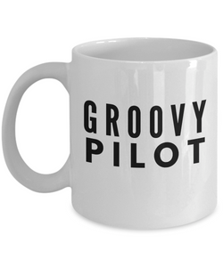 Groovy Pilot - Birthday Retirement or Thank you Gift Idea -   11oz Coffee Mug - Ribbon Canyon