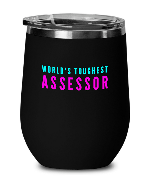 World's Toughest Assessor Insulated 12oz Stemless Wine Glass - Ribbon Canyon
