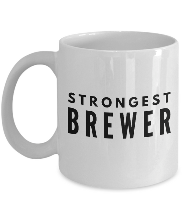 Strongest Brewer - Birthday Retirement or Thank you Gift Idea -   11oz Coffee Mug - Ribbon Canyon
