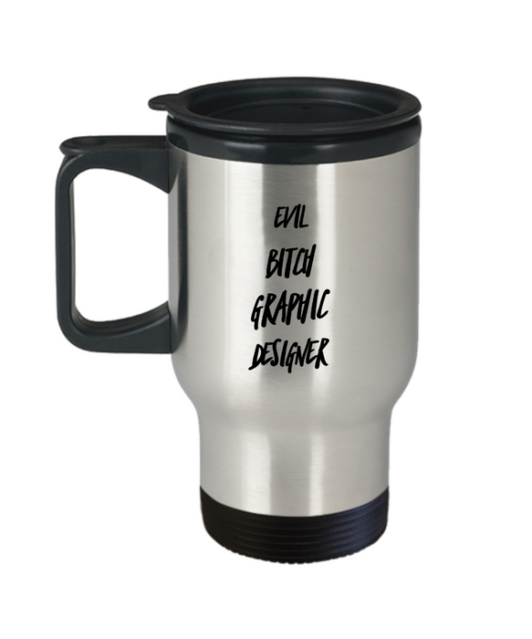 Funny Mug Evil Bitch Graphic Designer Gag Gift for Coworker Boss Retirement or Birthday - Ribbon Canyon