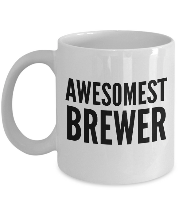 Awesomest Brewer - Birthday Retirement or Thank you Gift Idea -   11oz Coffee Mug - Ribbon Canyon