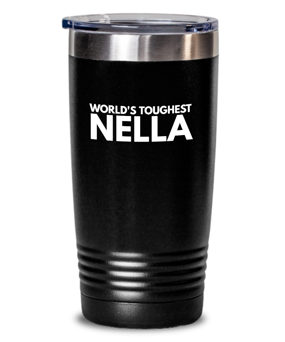 #GB Tumbler White NAME 3678 World's Toughest NELLA