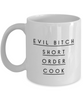 Evil Bitch Short Order Cook, 11Oz Coffee Mug Unique Gift Idea for Him, Her, Mom, Dad - Perfect Birthday Gifts for Men or Women / Birthday / Christmas Present - Ribbon Canyon