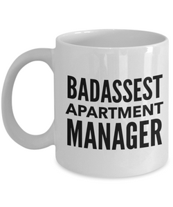 Badassest Apartment Manager, 11oz Coffee Mug Best Inspirational Gifts - Ribbon Canyon