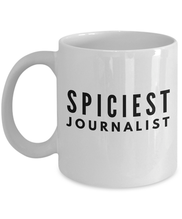 Spiciest Journalist - Birthday Retirement or Thank you Gift Idea -   11oz Coffee Mug - Ribbon Canyon