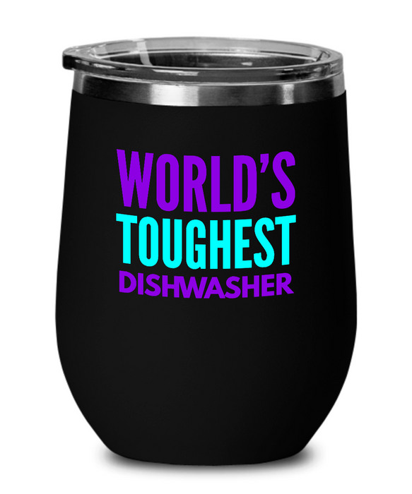 World's Toughest Dishwasher Insulated 12oz Stemless Wine Glass - Ribbon Canyon
