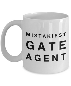 Mistakiest Gate Agent Gag Gift for Coworker Boss Retirement or Birthday - Ribbon Canyon