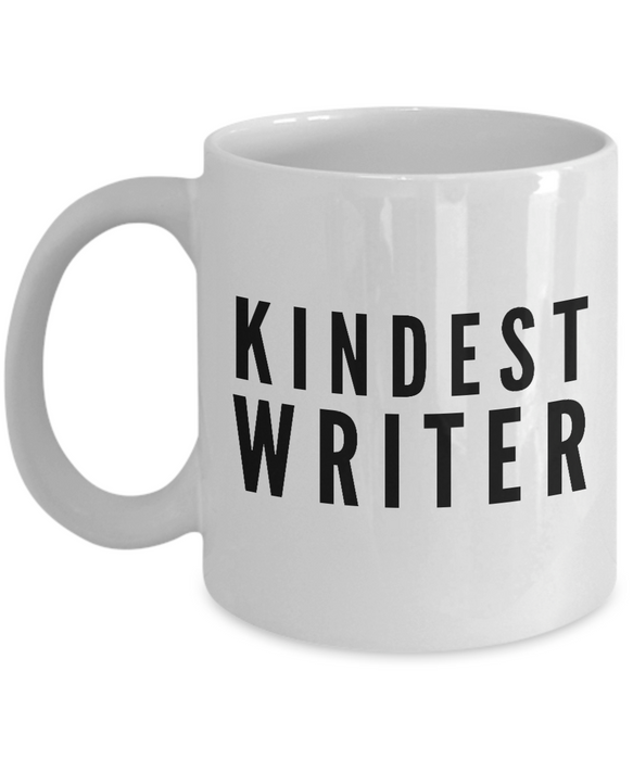 Kindest Writer - Birthday Retirement or Thank you Gift Idea -   11oz Coffee Mug - Ribbon Canyon