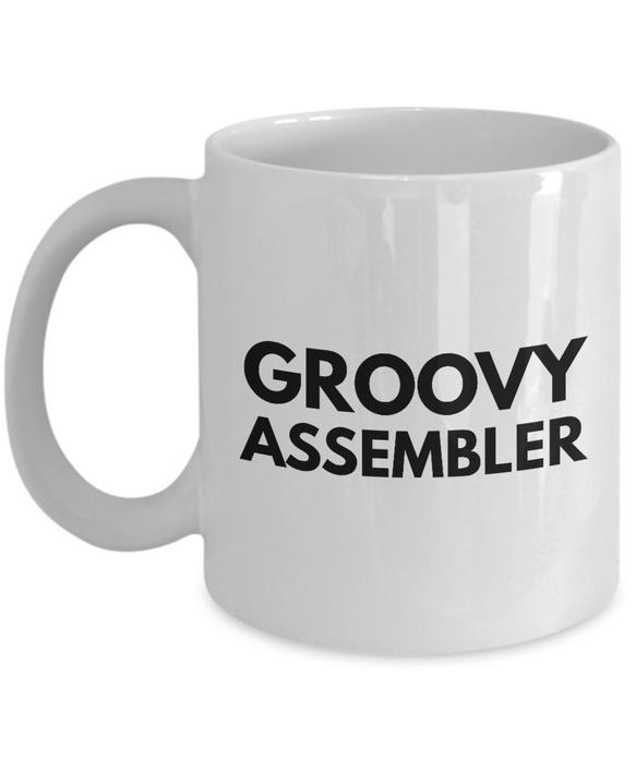 Groovy Assembler - Birthday Retirement or Thank you Gift Idea -   11oz Coffee Mug - Ribbon Canyon
