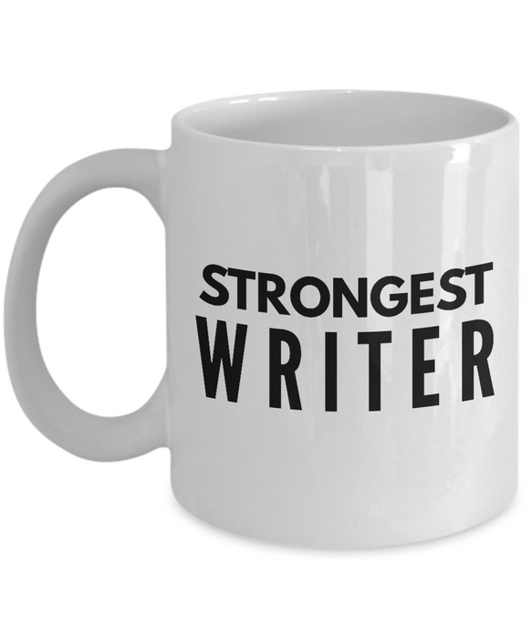 Strongest Writer - Birthday Retirement or Thank you Gift Idea -   11oz Coffee Mug - Ribbon Canyon